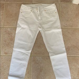 Micheal kors straight legs white jeans